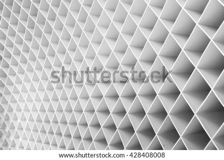 geometric wall facade background - stock photo