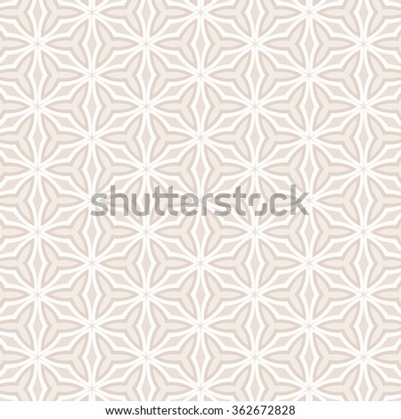 geometric wedding pattern - winter stars motif - stock photo