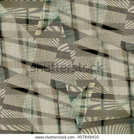 Geometrical abstract background - stock photo
