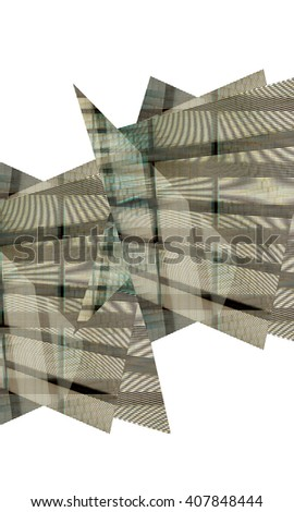 Geometrical abstract background isolated in white - stock photo