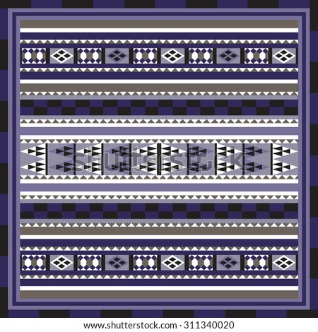 Geometrical abstract pattern from decorative ethnic ornament elements .  African, Mexican, Turkmen texture (background) for packing, textile, interior, web design. - stock photo