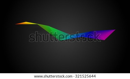 geometrical colourful abstraction on black background