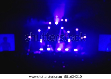 Geometrical Concert lights (super high resolution) on bright stage lights with Laser rays