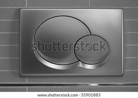 Geometrical flush press buttons - stock photo