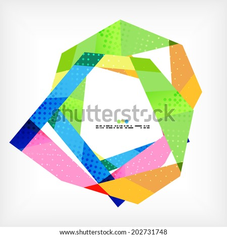 Geometrical unusual pattern - business abstract modern design