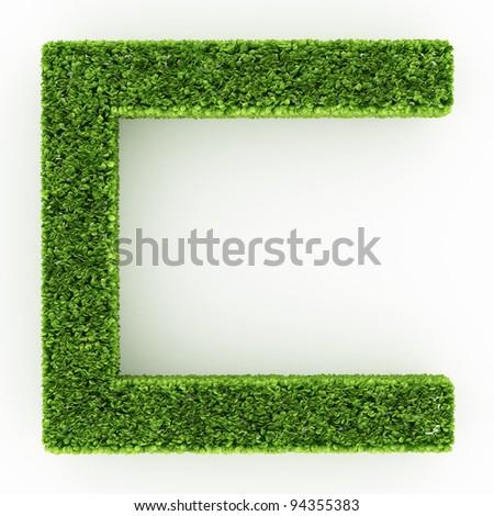 Geometry shape Bushes isolated on white - stock photo