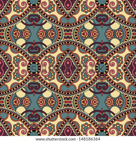 geometry vintage floral seamless pattern, raster version