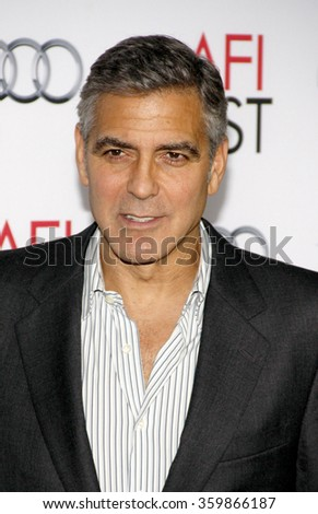 "George Clooney at the AFI Fest 2013 Gala Screening of ""August Osage County"" held at the TCL Chinese Theatre in Los Angeles, USA on November 8, 2013."