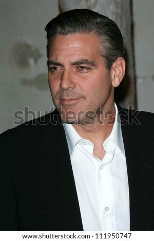 George Clooney at the Giorgio Armani Prive Show to celebrate the Oscars. Green Acres, Los Angeles, CA. 02-24-07