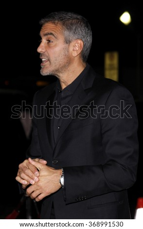 """George Clooney at the Los Angeles Premiere of """"Up In The Air"""" held at the Mann Village Theater in Westwood, California, United States on November 30, 2009.  - stock photo"""