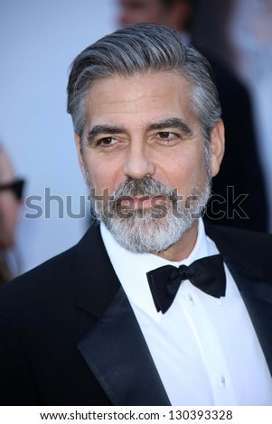 George Clooney at the 85th Annual Academy Awards Arrivals, Dolby Theater, Hollywood, CA 02-24-13 - stock photo