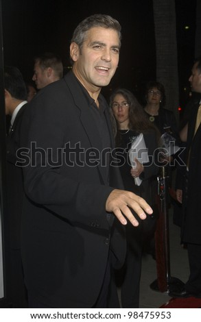 GEORGE CLOONEY at the world premiere of his new movie Intolerable Cruelty, in Beverly Hills. Sept 30, 2003  Paul Smith / Featureflash
