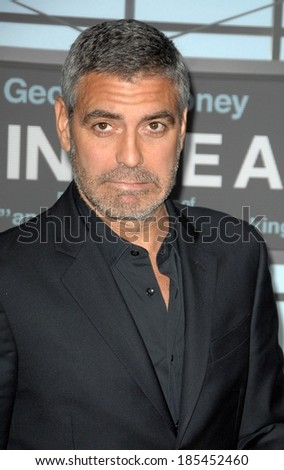 George Clooney at UP IN THE AIR Premiere, Mann's Village Theatre in Westwood, Los Angeles, CA November 30, 2009 - stock photo