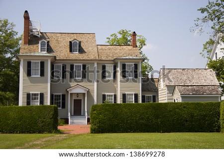 George Dixon House in New Bern, NC - stock photo