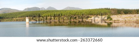GEORGE, SOUTH AFRICA - JANUARY 4, 2015: Panorama of the Garden Route Dam in George - stock photo