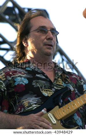 GEORGE WA - JULY 25: Singer and guitar player Jim Messina of Loggins and Messina performs on stage at The Gorge Amphitheater August 15, 2005 in George, WA.