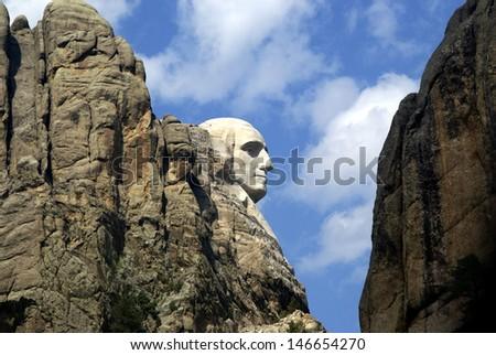 George Washington Profile - Mt. Rushmore - stock photo