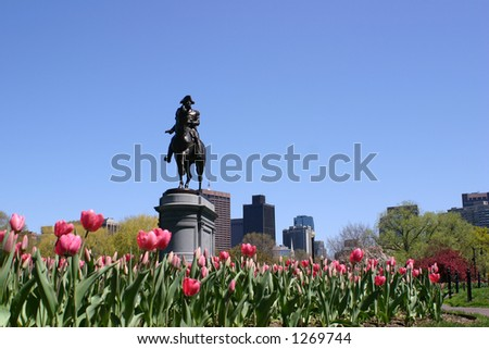 George Washington Statue - stock photo