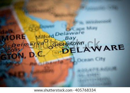 State Of Delaware Stock Images RoyaltyFree Images Vectors - Delaware on usa map