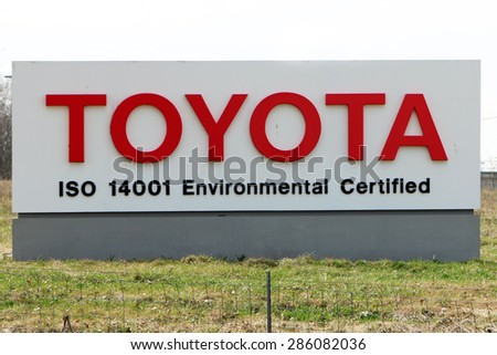 GEORGETOWN, KY CIRCA JANUARY, 2015: Entrance To Toyotau0027s Largest  Manufacturing Complex Outside