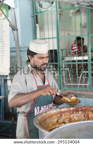 Georgetown, Penang, Malaysia - JULY 4 : Heritage Celebrations 2015 EAT RITE:Rituals Foods of George Town. Tourists attention to Celebrations on the opening day. on July 4,2015 in Penang, Malaysia.