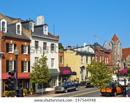 Georgetown Streets, Washington DC - stock photo
