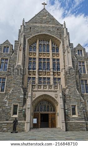 Georgetown University ancient building in Washington DC  - stock photo