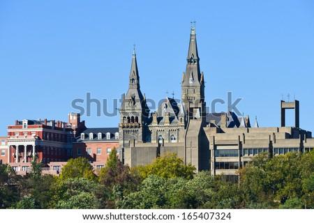 Georgetown University  in Washington DC - United States  - stock photo