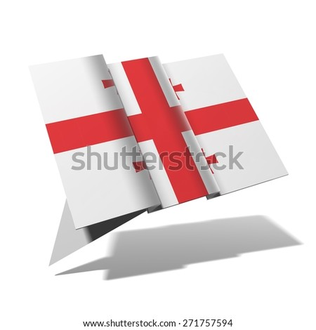 Georgia flag 3D banner - stock photo