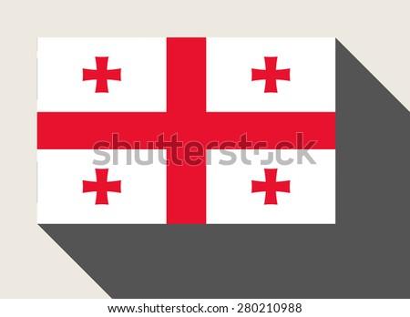 Georgia flag in flat web design style. - stock photo