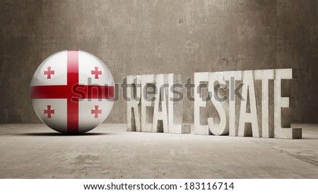 Georgia High Resolution Real Estate Concept - stock photo