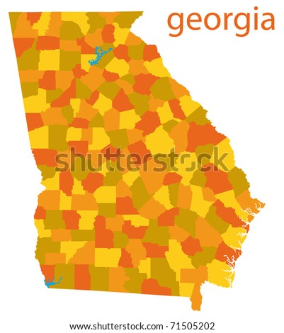 Georgia State Map Stock Images RoyaltyFree Images Vectors - Geogia state map