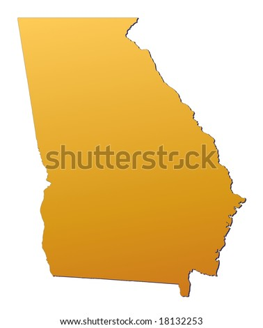 Georgia Usa Map Stock Illustration Shutterstock - Map georgia usa