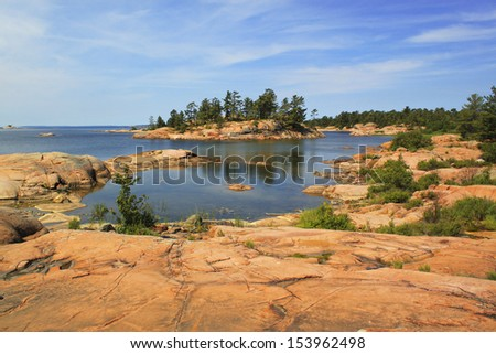 Georgian Bay islands, Killarney Provincial Park, Ontario, Canada - stock photo