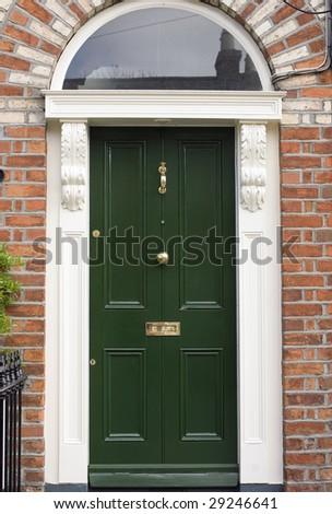 Georgian Door, Dublin Ireland - stock photo