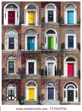 GEORGIAN DOORS - DUBLIN IRELAND & Georgian Doors Dublin Ireland Stock Photo (Royalty Free) 737665936 ...