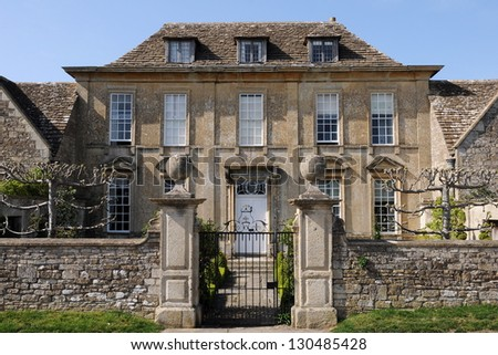 Georgian Era English Country Manor - stock photo