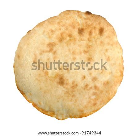 Georgian lavash isolated on a white background - stock photo
