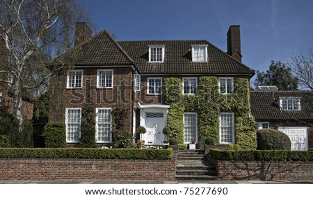Georgian style house in London - stock photo