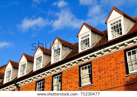Georgian style houses in London - stock photo