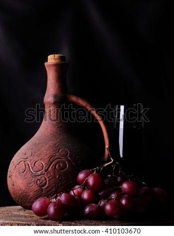 Georgian wine - stock photo