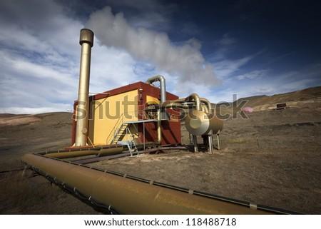 geothermal energy - stock photo