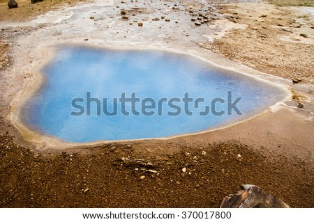 Geothermal hot water spring - stock photo