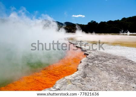 Geothermal pool near  Rotorua, North Island, New Zealand - stock photo