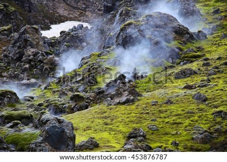 Geothermal vents in Iceland