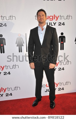 "Gerard Butler at the premiere of his new movie ""The Ugly Truth"" at the Cinerama Dome, Hollywood. July 16, 2009  Los Angeles, CA Picture: Paul Smith / Featureflash"