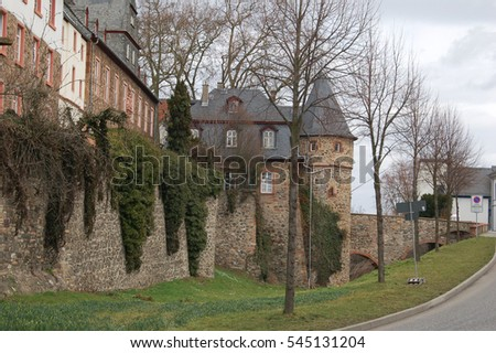 German backwoods, provincial small settlements, villages. Sketch of Germany.