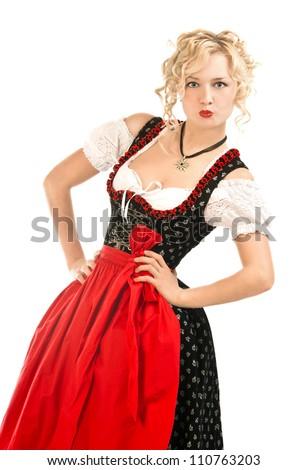 Unique 3Pcs Womens Traditional Bavarian German Classic Dirndl Dress Oktoberfest Costume | EBay