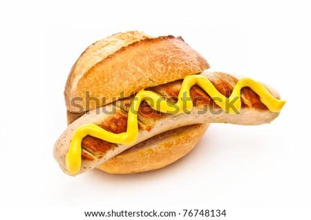 German Bratwurst - stock photo