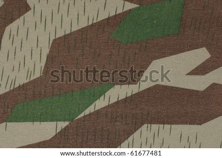 German camouflage fabric, ww2 - stock photo